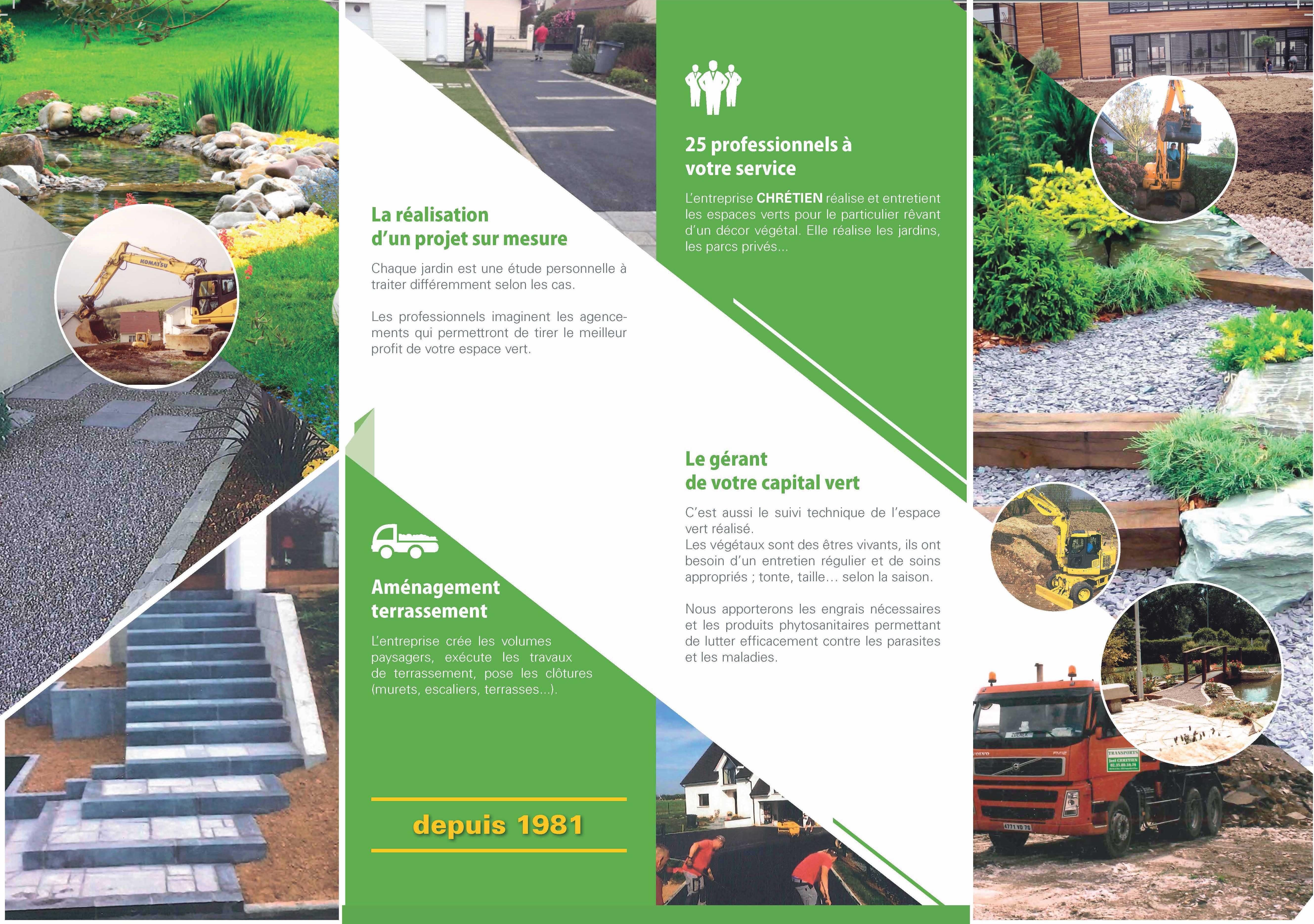 Nos services chretien paysagiste transport tp for Diplome espace vert